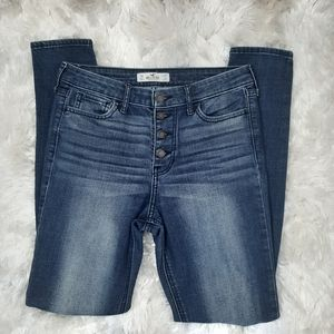 Hollister Skinny Jeans Exposed Button Fly Size 5R